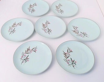 Universal Ballerina Mist China 7 plates, 7 Bread and butter
