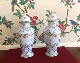 Paris Royal Hand Painted Pair of Painted Vases