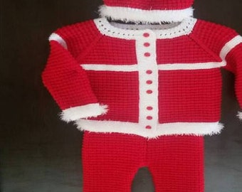 Old price-67.95, NEW price-53.09, Christmas set, baby suit, baby gift, children knits, warm, sweater, hat, pants, booties, boots