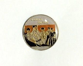 Vintage 80s Duran Duran Enamel Pin