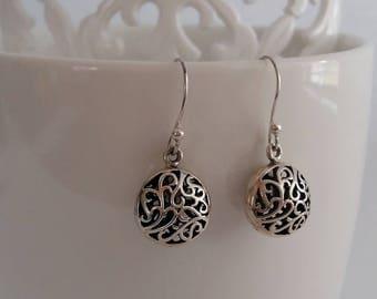 Silver Earrings with Oriental Look Felicita, Sterling Silver Earrings, Oriental Earrings, Dangle Earrings, Boho, Gift Idea