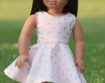 Pink and Gold Sundress for American Girl Doll