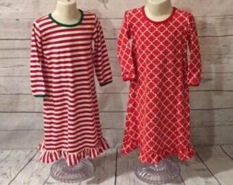 Girl's Christmas Pajama Gowns