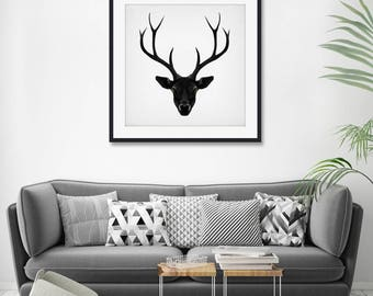 The Black Deer by Ruben Ireland Art Print
