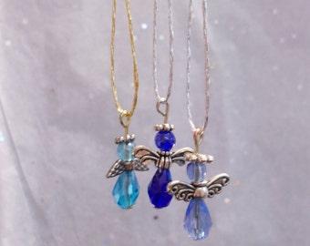 Blue Angel Ornament