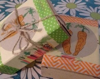 Handmade Carrot Soap:  Handmade by me. Carrot/Aloe soap/Very moisturizing.  Buy 1/ 1 Free.