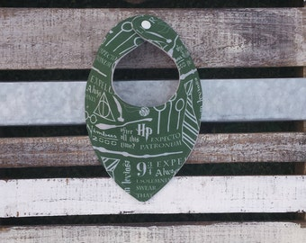 Harry Potter Slytherin green and silver dribble and drool bib for babies and toddlers