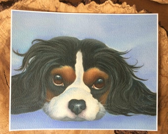 """cavalier king charles painting """"Coco"""""""
