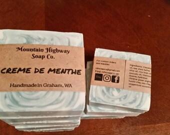 Creme de Menthe - natural clay soap