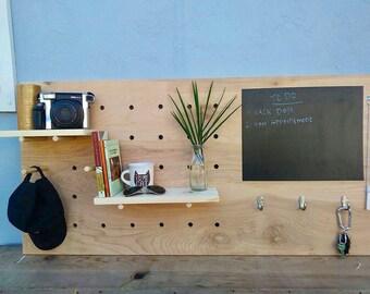 Pegboard, Birch wood Pegboard,  big pegboard, chalkboard on pegboard large peg board
