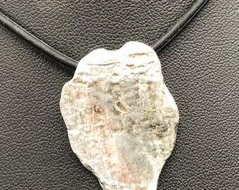 Maple Tree Bark in fine silver —- pendant