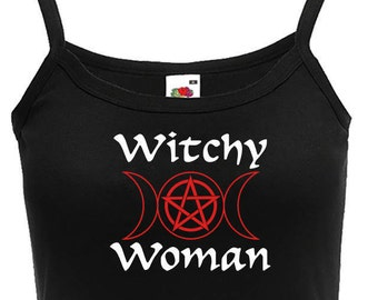 Witchy Woman Pagan Shirt Witchcraft Ladies Pagan Top