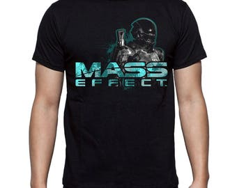 Mass Effect t-shirt Andromeda N7 Shepard Game t-shirt Cosplay print Gift for him For boyfriend Best birthday Gift for brother Mens t shirt