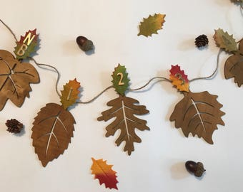 12 Month Photo Banner - First Birthday Banner - Woodland Animals Birthday - Fall Theme - Autumn Decor - Fall Leaves