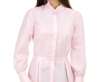 Victorian Blouse in Primrose Pink