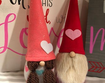 Valentine Gnome Couple Boy Tomte Girl Nisse Love Valentine Decor Scandinavian Gnomes
