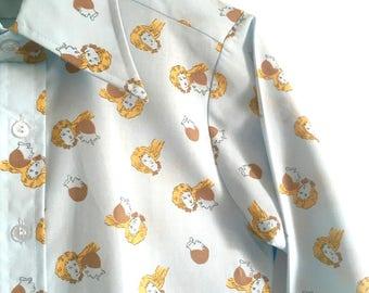 Talking Heads shirt: 1970s printed kids shirt