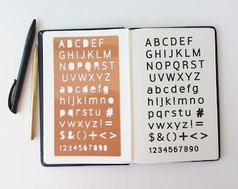 "Bullet Journal Stencil,  Sans Serif Alphabet Stencil, Planner StencilSans Serif Letter Stencil - 4x7"" (Sans Serif L)"