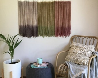 GELATI Tapestry/ Wall Art/ Fiber Fibre Art/ Wall Hanging/ Modern Macrame/ Wool Rope/ Wall Decor/ Large Abstract Art/ Moving Textured Canvas