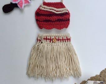 Handmade Moana Inspired Newborn Costume
