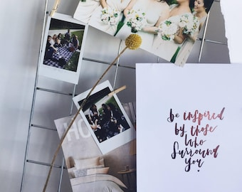 Be Inspired | Wall Print | Inspiration | Hand Lettered, Foiled Print