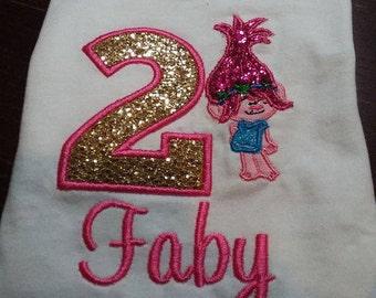 Personalized Birthday Trolls Shirt