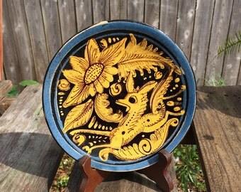 Tlaquepaque, Mexican Vintage Pottery, Fantasia Deer Pattern, Rare