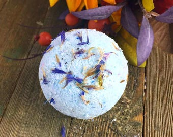 Blue Cornflower Bath Bomb, Bath Bomb, Blue Bath Bomb, Bath Fizzy, Bath Fizzies, Bath bombs, Flower Bath Bomb