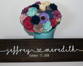 CUSTOM MADE Personalized Anniversary/Wedding/ Couples Sign