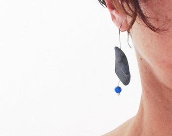 Handmade earrings from sea stones. Unique piece. The earring is one of a kind, hand made.