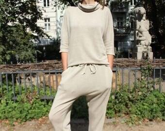 Hemp Roll-Neck Sweater, Woman, Organic Fashion, Handmade, Vegan, 100% Hemp