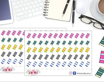 Tabs Planner Sticker, Tape Tracker Sticker, Planner Stickers, Planner Accessories