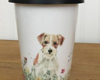 Jack Russell insulated travel mug