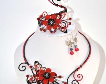 Red and Black Aluminum set: wedding party (N3)