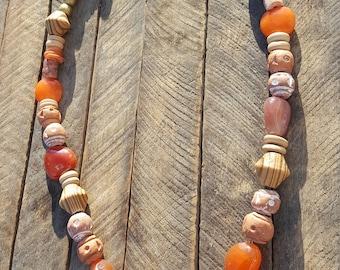 Necklace from Peru, Madagascar, Ghana, Morocco, Ethiopia