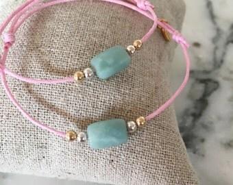 Bracelet semi-precious stones for babies, kids and moms!