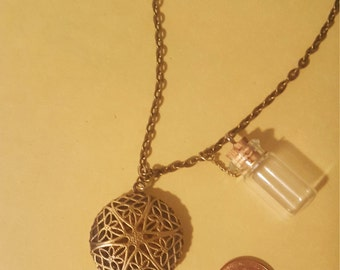 Wabi-Sabi-Boho-Shabby-Chic Essential Oil Diffuser Charm Necklace