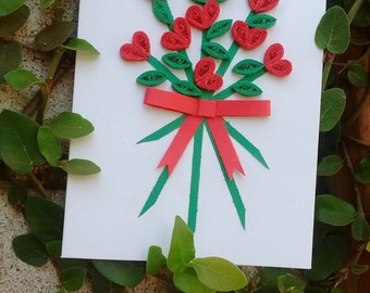 Bundle Of Roses Paper Quilling