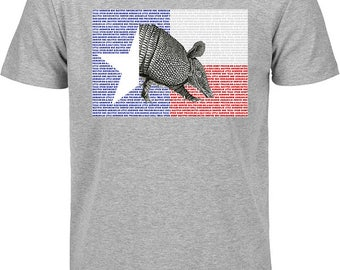 Armadillo Tshirt, Texas Armadillo tshirt, texas tshirt, tshirt with armadillo, tshirt with texas flag, texas flag armadillo tshirt, tshirt