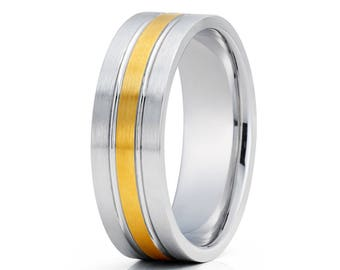 Classic 14k Gold Wedding Band Yellow Gold Wedding Ring Men's Wedding Band Anniversary Ring Comfort Fit Gold Wedding Ring