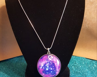 Double Sided Galaxy Necklace