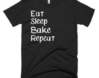 Bake Shirt - Baking Gifts - Baker Gift Ideas - Gift For Baking - Eat Sleep Bake Repeat Tee - Baker Gift