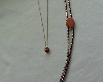 Vintage His & Her Goldstone Neckwear