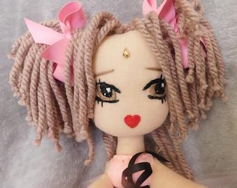 Textile doll 12.5 inches Dolls Art doll Handmade Doll 32cm Rag doll Cloth doll  fabric doll