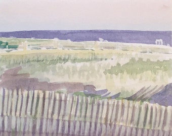 Delancey Place beach fence, Ocean City, New Jersey