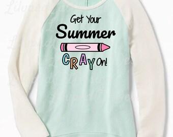 Last Day of School svg, Summer Cray On svg, last day of school shirt, hello sumer svg, summer svg, summer time svg, good bye school svg.