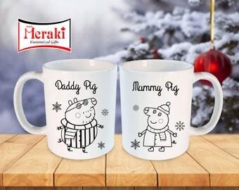 Daddy Pig and Mummy Pig Mugs