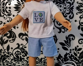 18 Inch Doll Clothes- Eco Friendly 2pc Short Set
