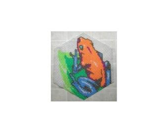 Poison Arrow Frog - Beaded Doily Pattern
