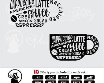 Coffee cup svg, coffee mug svg, stencil, coffee saying svg, ai dxf emf eps pdf png psd svg svgz tif files, cricut, silhouette, brother